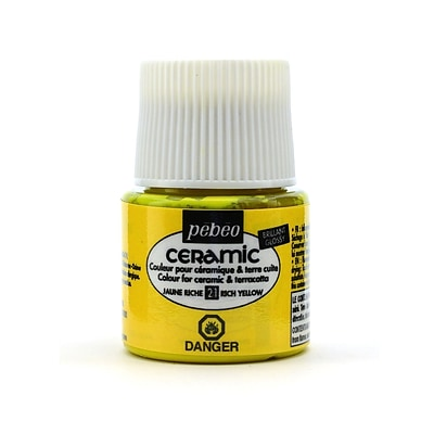 Pebeo Ceramic Air Dry China Paint Rich Yellow 45 Ml [Pack Of 3]