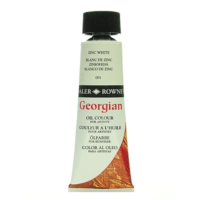 Daler-Rowney Georgian Oil Colours Zinc White 75 Ml [Pack Of 2]