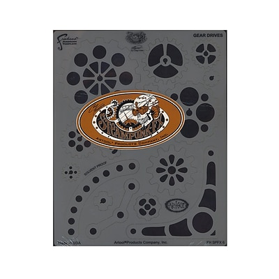 Artool Steampunk Fx Freehand Airbrush Templates By Craig Fraser Gear Drives 8 In. X 10 In. Each