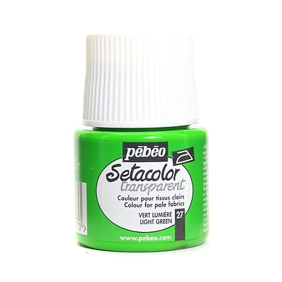 Pebeo Setacolor Transparent Fabric Paint Light Green 45 Ml [Pack Of 3]