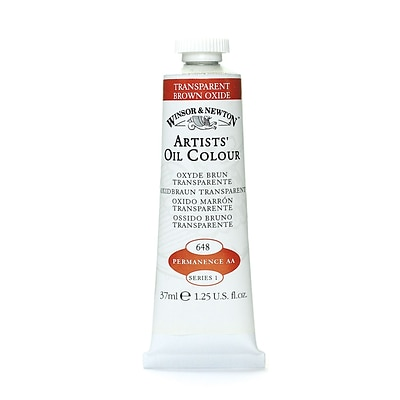 Winsor  And  Newton Artists Oil Colours Transparent Brown Oxide 648 37 Ml