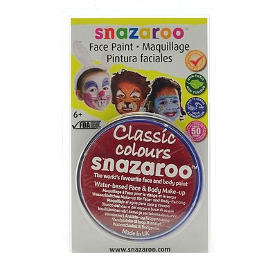 Snazaroo Face Paint Colors Bright Red [Pack Of 3]