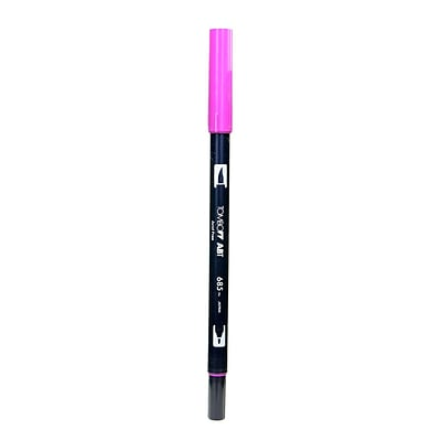 Tombow Dual End Brush Pen Deep Magenta [Pack Of 12]