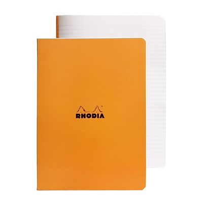 Rhodia Staplebound Notebooks Ruled, Orange Cover, 8 1/4 X 11 3/4, 48 Sheets, 5/Pack (92620-Pk5)