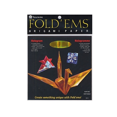 Yasutomo FoldEms Origami Paper Hologram 5 7/8 In. Pack Of 5 [Pack Of 2]