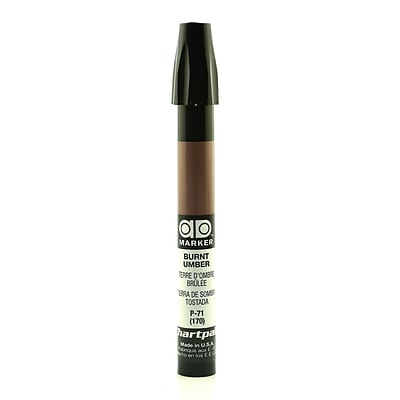 Chartpak AD Marker, Burnt Umber, Tri-Nib [Pack of 6]