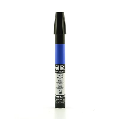 Chartpak AD Marker, True Blue, Tri-Nib [Pack of 6]