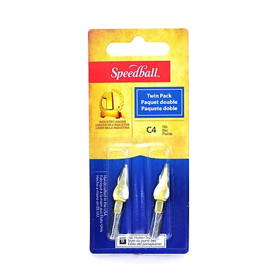 Speedball Flat Pen Nibs C-4 pack of 2 [Pack of 6]