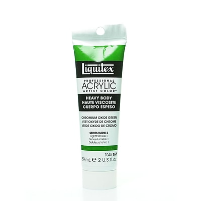 Liquitex Heavy Body Professional Artist Acrylic Colors Chromium Oxide Green 2 Oz. [Pack Of 2]