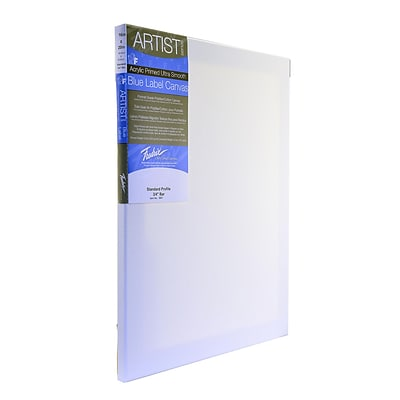 Fredrix Blue Label Ultra-Smooth Portrait Grade Pre-Stretched Artist Canvas, 20 X 24 (35396)