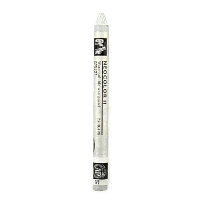 Caran DAche Neocolor Ii Aquarelle Water Soluble Wax Pastels Silver [Pack Of 10]