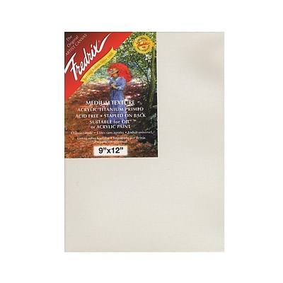 Fredrix Red Label Stretched Cotton Canvas, 9 X 12, 3/Pack (28900-Pk3)