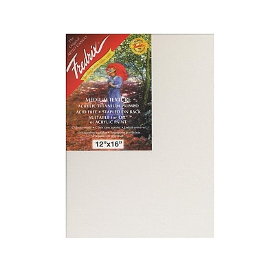 Fredrix Red Label Stretched Cotton Canvas 12 In. X 16 In. Each [Pack Of 2]