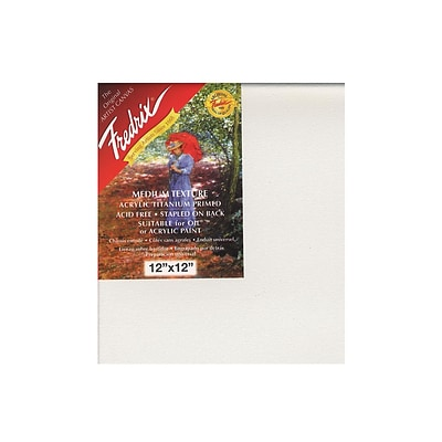 Fredrix Red Label Stretched Cotton Canvas 12 In. X 12 In. Each [Pack Of 2]