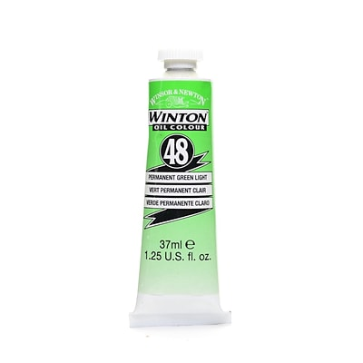 Winsor  And  Newton Winton Oil Colours 37 Ml Permanent Green Light 48 [Pack Of 3]