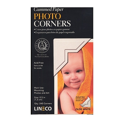Lineco 64788-Pk2 Old White Infinity Paper Photo Corners Pack Of 252, 2/Pack