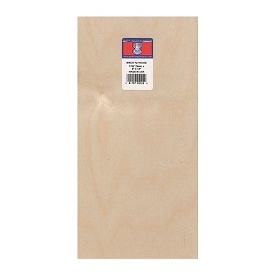Midwest Thin Birch Plywood Aircraft Grade 1/16 6 x 12, 3/Pk