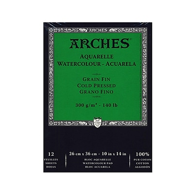 Arches Watercolor Pad 10 In. X 14 In. Cold Pressed 140 Lb.