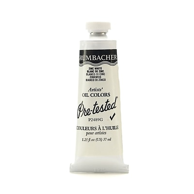 Grumbacher Pre-Tested Artists Oil Colors Zinc White P248 1.25 Oz. [Pack Of 2]