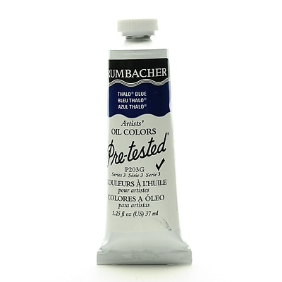 Grumbacher Pre-Tested Artists Oil Colors Thalo Blue P203 1.25 Oz.
