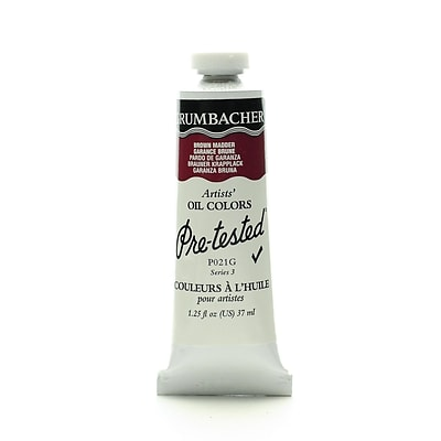 Grumbacher Pre-Tested Artists Oil Colors Brown Madder P021 1.25 Oz.