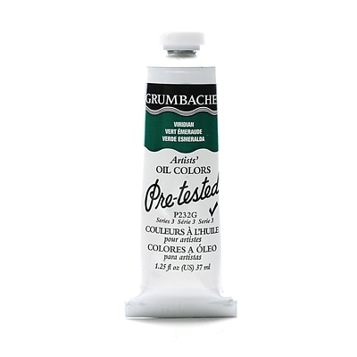 Grumbacher Pre-Tested Artists Oil Colors Viridian P232 1.25 Oz.