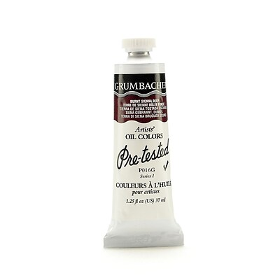 Grumbacher Pre-Tested Artists Oil Colors Burnt Sienna Deep P016 1.25 Oz. [Pack Of 2]
