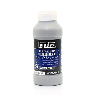 Liquitex Acrylic Colored Gesso, Neutral Gray, Value 5, 8Oz (84754)