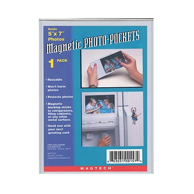 Magtech Magnetic Photo Pockets, 5 X 7, 12/Pack (38050-Pk12)