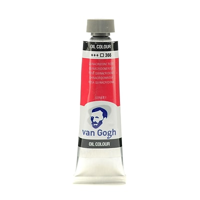 Van Gogh Oil Color Quinacridone Rose 40 Ml (1.35 Oz) [Pack Of 3]