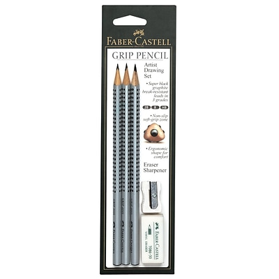 Faber-Castell Grip Pencil Artist Drawing Set each [Pack of 3]