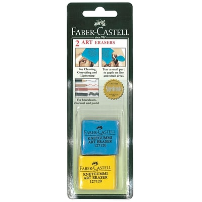 Faber-Castell Kneaded Art Erasers, 2 Erasers, Assorted, Pack of 12 (15101-PK12)