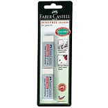 Faber-Castell Dust-Free Vinyl Erasers, Pack of 2, 12/Pack (87166-PK12)