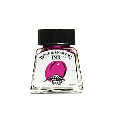 Winsor and Newton Drawing Inks, Purple 452, 14ml, 4/Pack (50228-PK4)