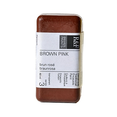 R  And  F Handmade Paints Encaustic Paint Brown Pink 40 Ml