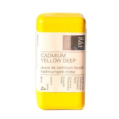 R And F Handmade Paints Encaustic Paint Cadmium Yellow Deep 40 Ml