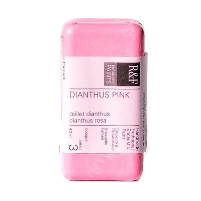 R And F Handmade Paints Encaustic Paint Dianthus Pink 40 Ml