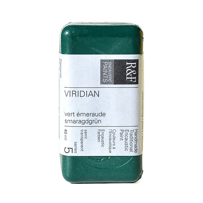 R  And  F Handmade Paints Encaustic Paint Viridian 40 Ml