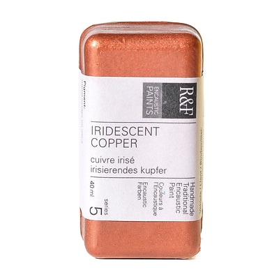 R  And  F Handmade Paints Encaustic Paint Iridescent Copper 40 Ml