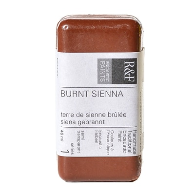 R  And  F Handmade Paints Encaustic Paint Burnt Sienna 40 Ml [Pack Of 2]