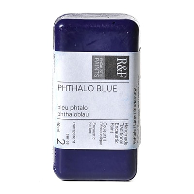 R  And  F Handmade Paints Encaustic Paint Phthalo Blue 40 Ml [Pack Of 2]