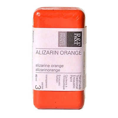 R  And  F Handmade Paints Encaustic Paint Alizarin Orange 40 Ml
