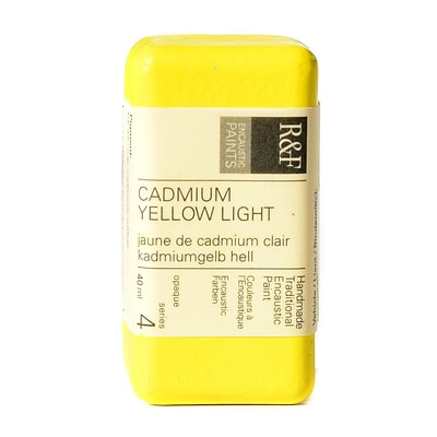 R And F Handmade Paints Encaustic Paint Cadmium Yellow Light 40 Ml