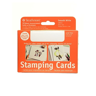 Strathmore Announcement Card White Smooth With No Deckle [Pack Of 3]