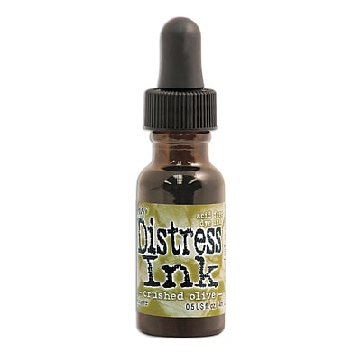 Ranger Tim Holtz Distress Ink Crushed Olive 0.5 Oz. Reinker Bottle [Pack Of 3]