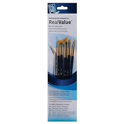 Princeton Real Value Series 9000 Blue Handled Brush Set, 9133, Set Of 6 (66291)