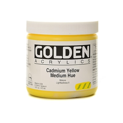 Golden Heavy Body Acrylics Cadmium Yellow Medium Hue 16 Oz.