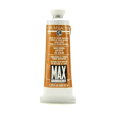 Grumbacher Max Water Miscible Oil Colors Raw Sienna 1.25 Oz. [Pack Of 2]