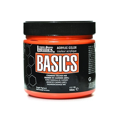 Liquitex Basics Acrylics Colors, Cadmium Orange Hue, 32Oz Jar (79548)