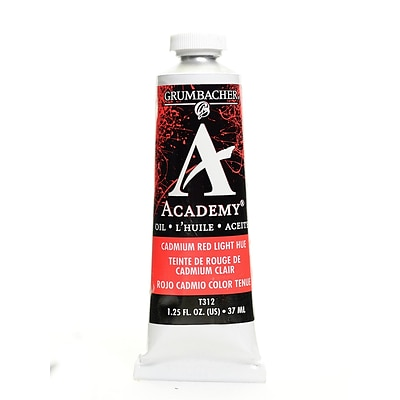 Grumbacher Academy Oil Colors Cadmium Red Light Hue 1.25 Oz. [Pack Of 3]